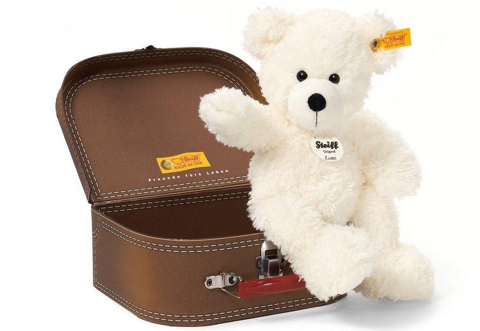 Steiff Plüschtier, 28 cm, »Lotte Teddybär im Koffer« in Cremefarben