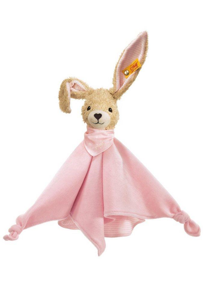 Steiff Kuscheltuch, »Hoppel Hase Schmusetuch« in rosa