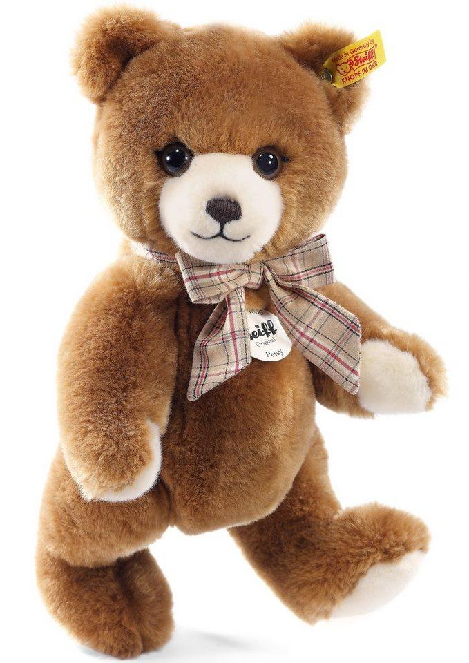Steiff Plüschtier, 28 cm, »Petsy Teddybär« in caramelfarbenes