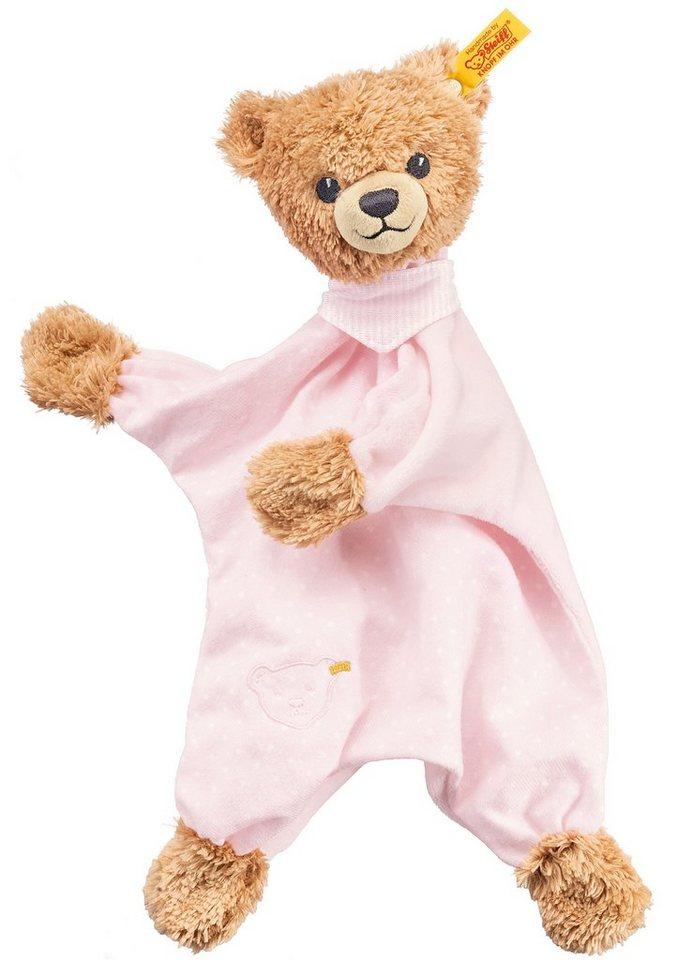 Steiff Schmusetuch, »Schlaf-gut-Bär Schmusetuch« in rosa