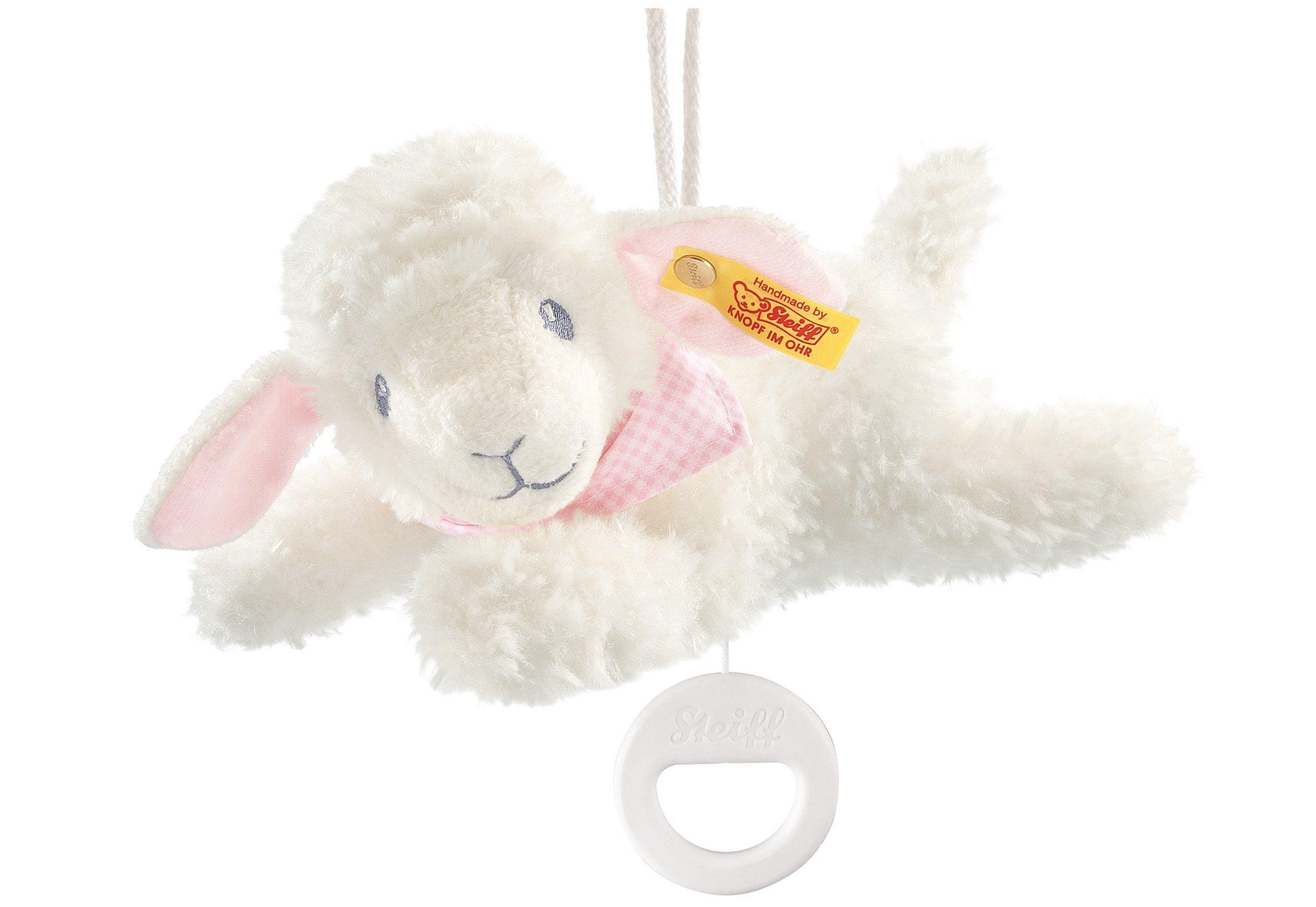 Steiff Träum SÜß Lamm Spieluhr 25cm 239649 Weiss Rosa Lämmchen Schaf