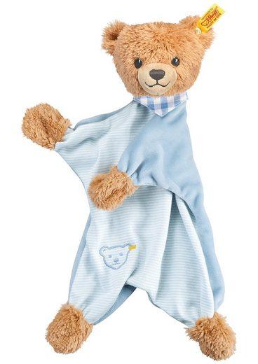 Steiff Schmusetuch »Schlaf-gut-Bär Schmusetuch, blau«, (1-tlg), mit gestickten Augen und »Knopf im Ohr«