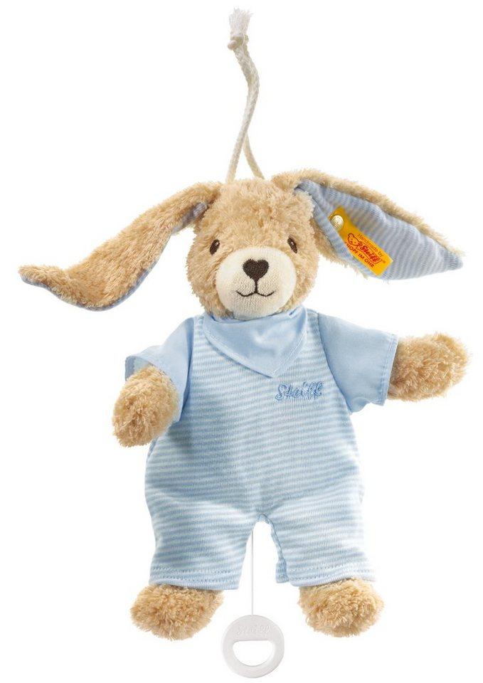 Steiff Spieluhr, »Hoppel Hase Spieluhr« in blau