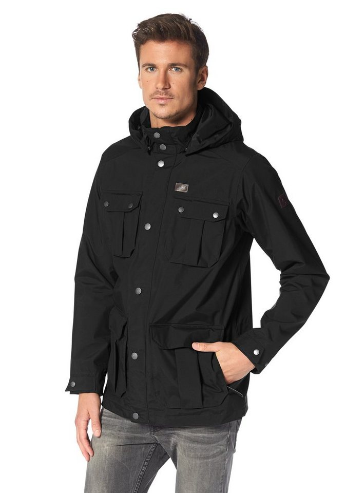 Jack Wolfskin LIVINGSTONE JACKET MEN Funktionsjacke in Schwarz