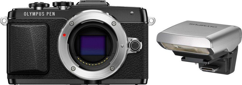 Olympus PEN E-PL7 Body System Kamera, 16,1 Megapixel (3 Zoll) Display in schwarz