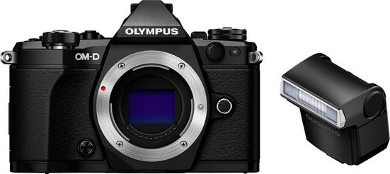 Olympus »OM-D E-M5 Mark II« Systemkamera-Body (16,1 MP, WLAN (Wi-Fi), NFC, Gesichtserkennung, HDR-Aufnahme,3D)