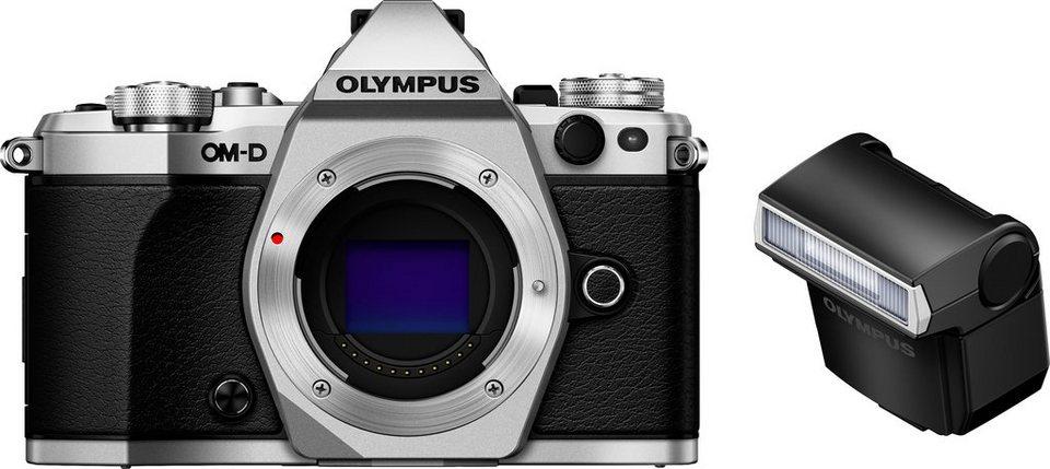 Olympus OM-D E-M5 Mark II System Kamera, 16,1 Megapixel, 7,6 cm (3 Zoll) Display in silberfarben