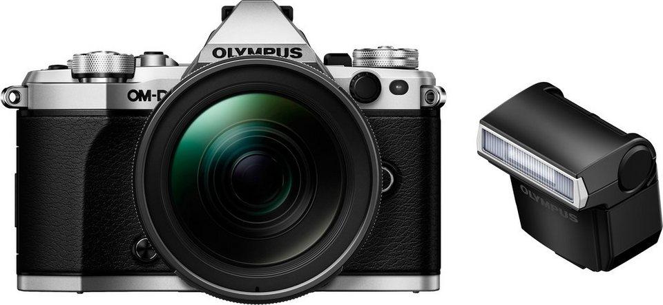 Olympus OM-D E-M5 Mark II Kit System Kamera, M.ZUIKO DIGITAL ED Normalobjektiv, 16,1 Megapixel in silberfarben