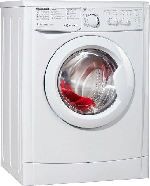 Indesit Waschtrockner EWDC 6145, 6 kg/5 kg, 1400 U/Min