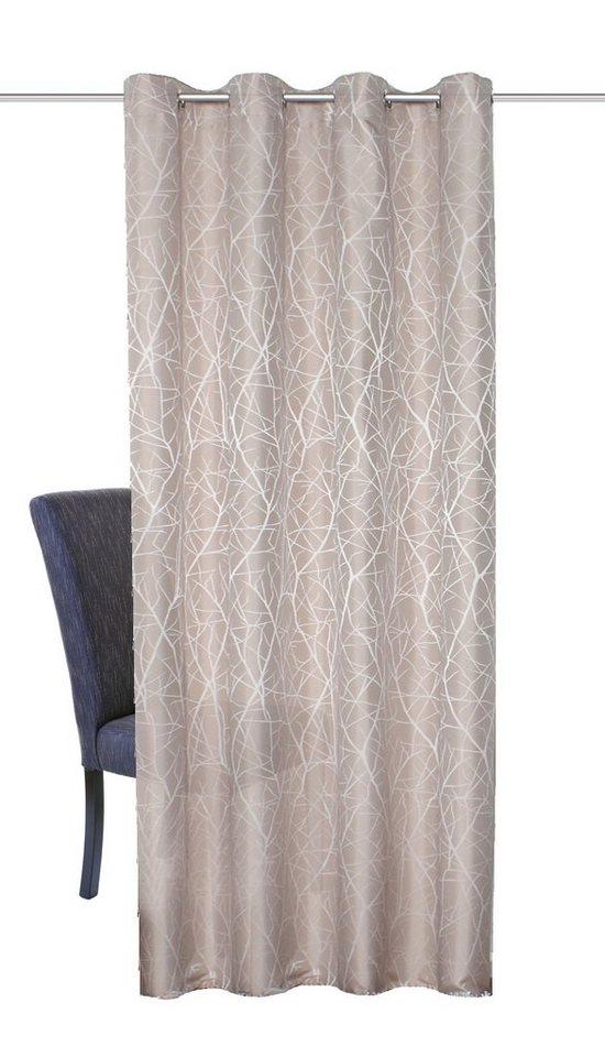 Vorhang, Home Wohnideen, »Siero« (1 Stück) in stein