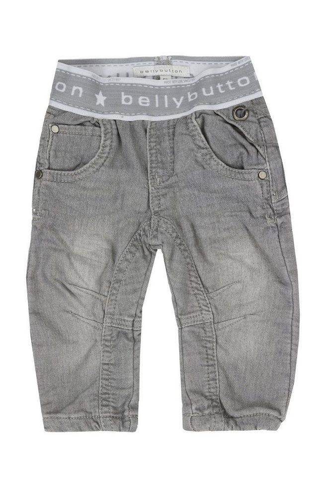 BELLYBUTTON Baby Jeans »mit Knöpfen« in mid grey denim