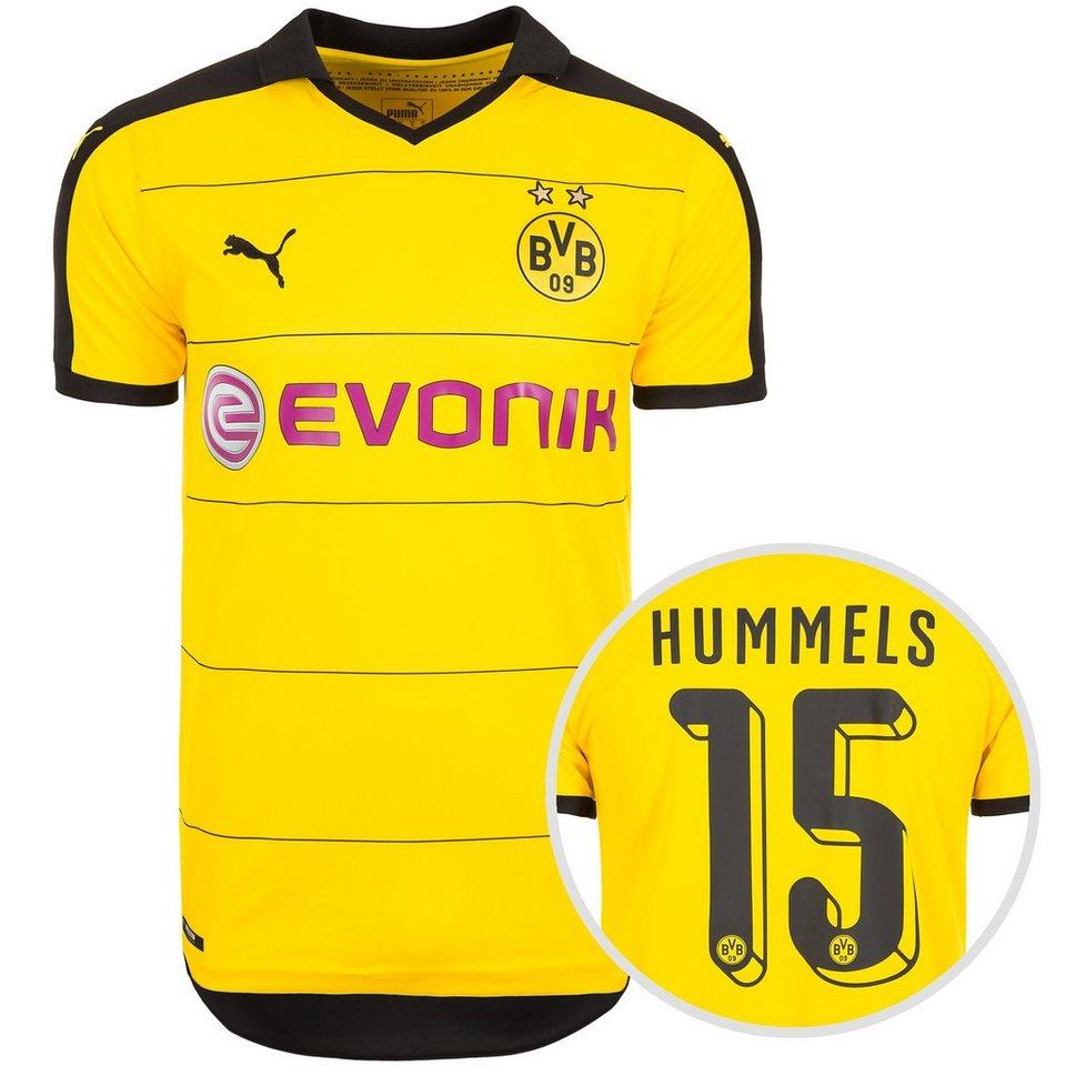 PUMA Borussia Dortmund Trikot Home Hummels 2015/2016 Herren in gelb / schwarz