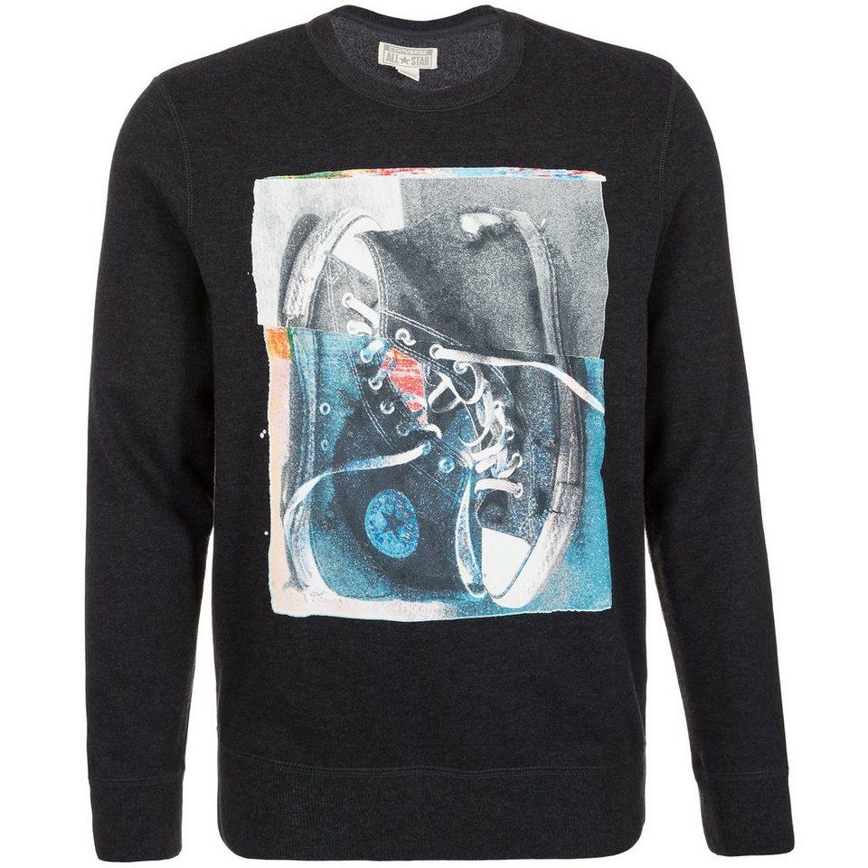 CONVERSE Graphic Fleece Crew Sweatshirt Herren in anthrazit