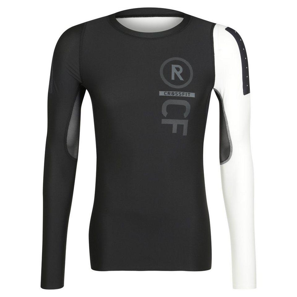 REEBOK CrossFit PWR5 Compression Trainingsshirt Herren in schwarz / grau / rot
