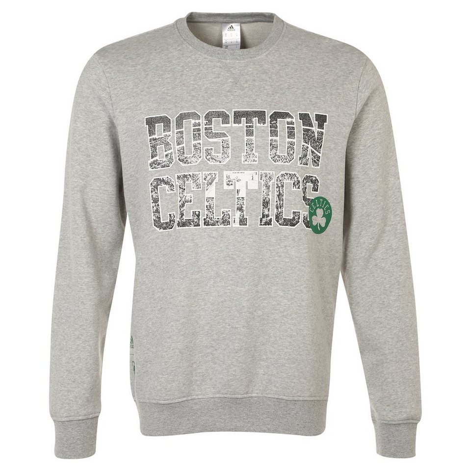 adidas Performance Boston Celtics GFX Fleece Crew Sweatshirt Herren in grau