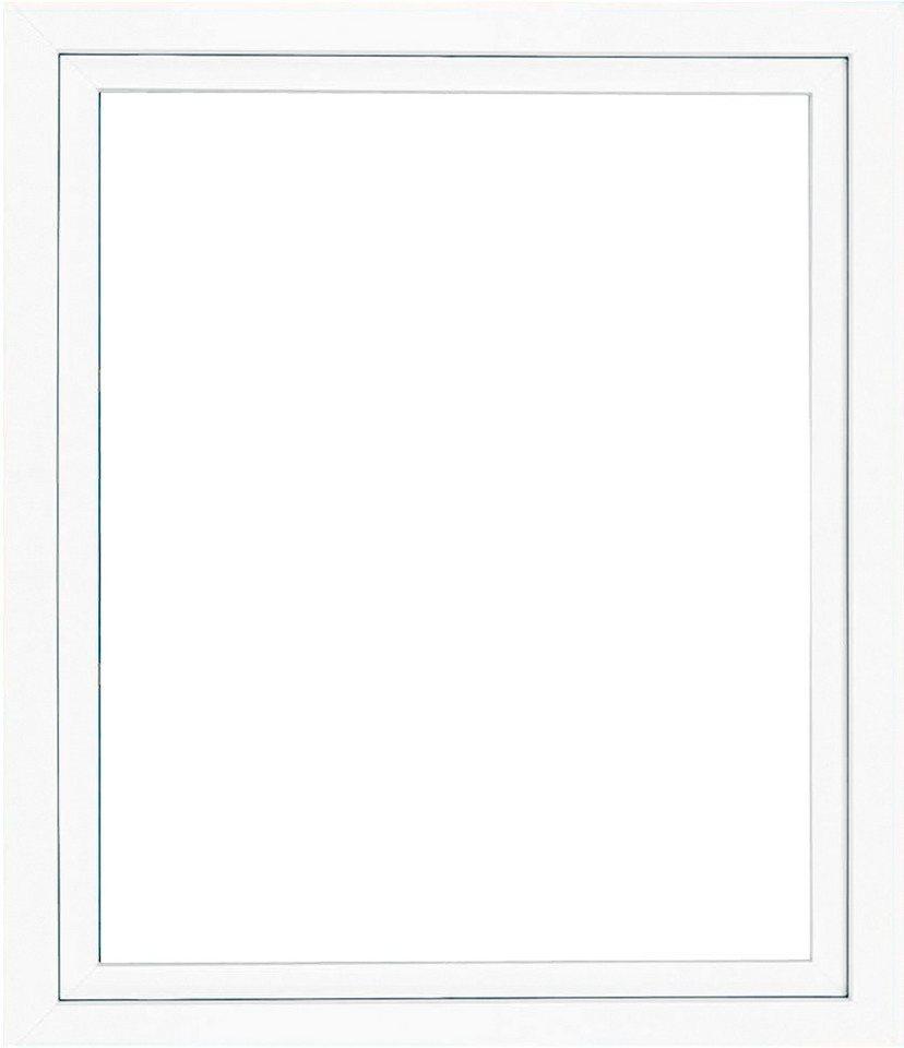 Kunststoff-Fenster, BxH: 100x50 cm, weiß in weiß
