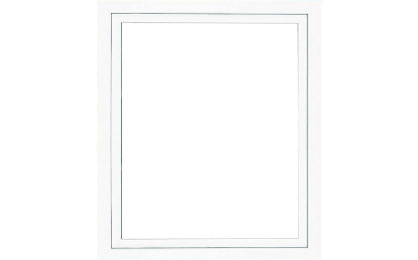 Kunststoff-Fenster, BxH: 100x50 cm, weiß