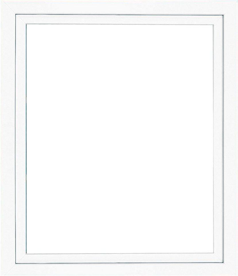 Kunststoff-Fenster, BxH: 75x60 cm, weiß in weiß