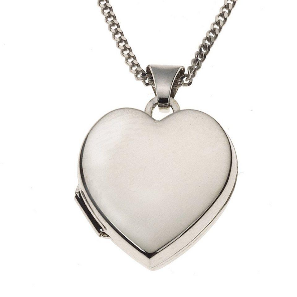 Zeeme Anhänger mit Kette »925/- Sterling Silber Medaillon« in weiß