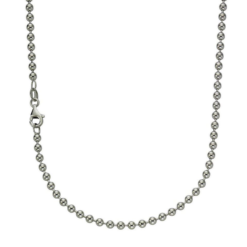 Zeeme Collier »925/- Sterling Silber Kigelkette 70cm« in weiß