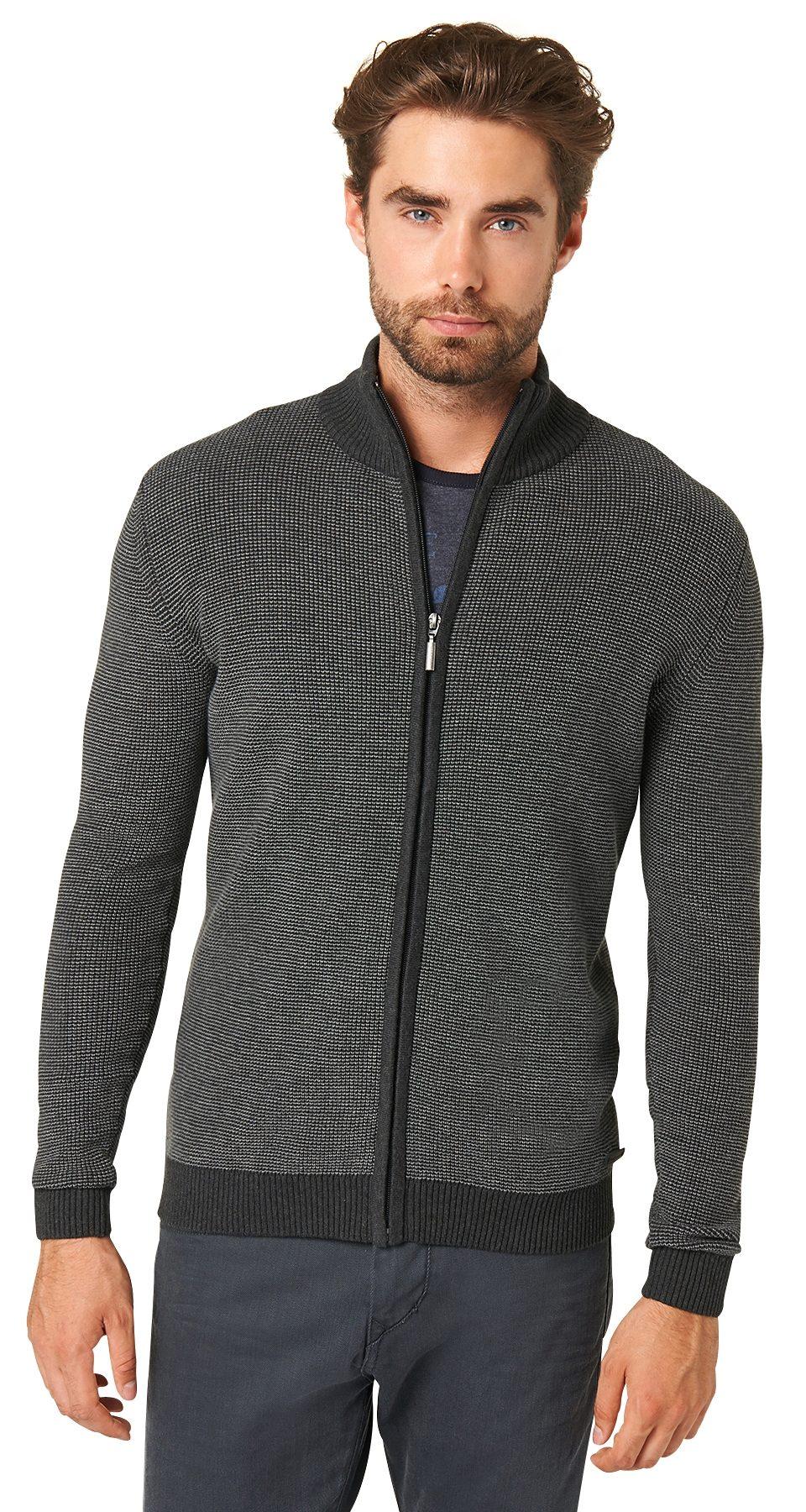 TOM TAILOR Pullover »schlichte Strickjacke mit Zipper«
