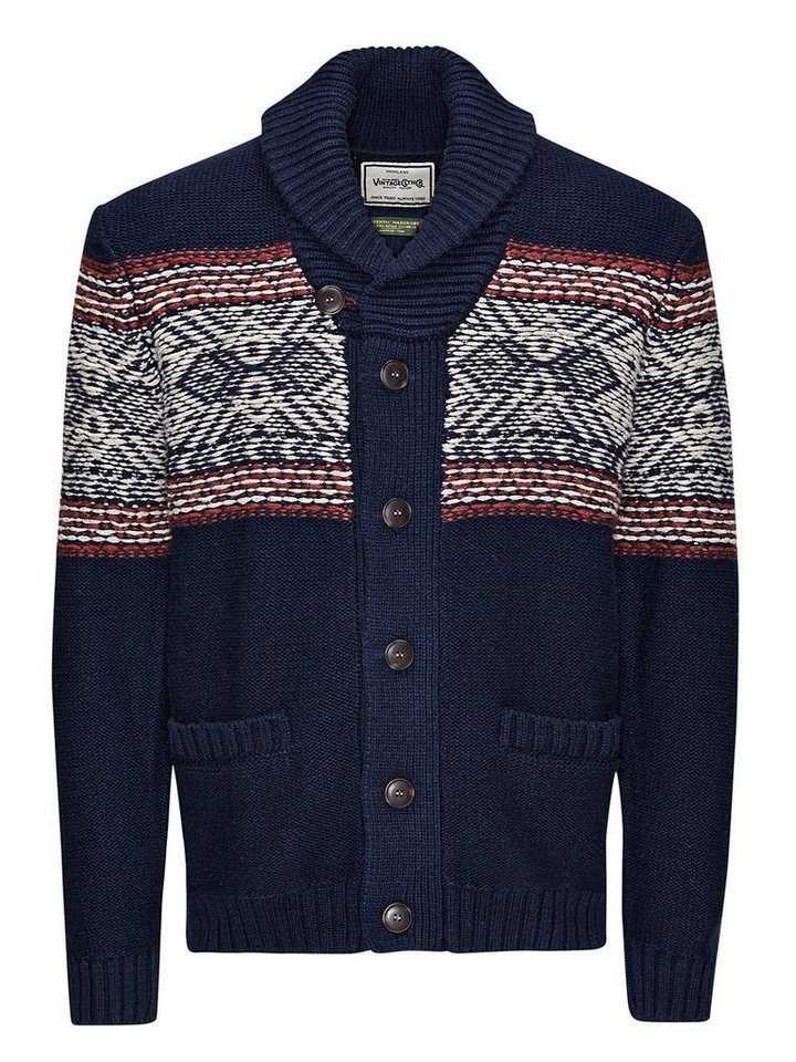 Jack & Jones Gestrickte Strickjacke in Total Eclipse
