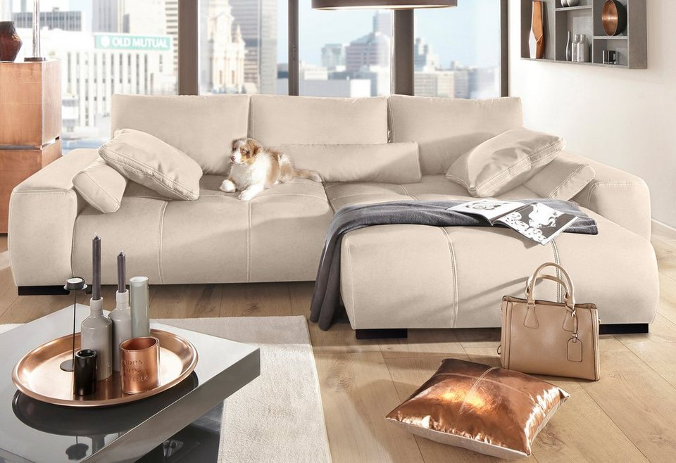polsterecke home affaire davis mit boxspring federung und bettfunktion online kaufen otto. Black Bedroom Furniture Sets. Home Design Ideas