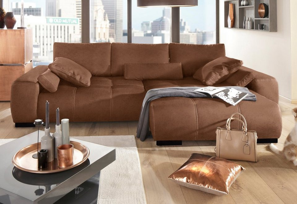 Polsterecke home affaire davis mit boxspring federung for Schlafcouch mit boxspring
