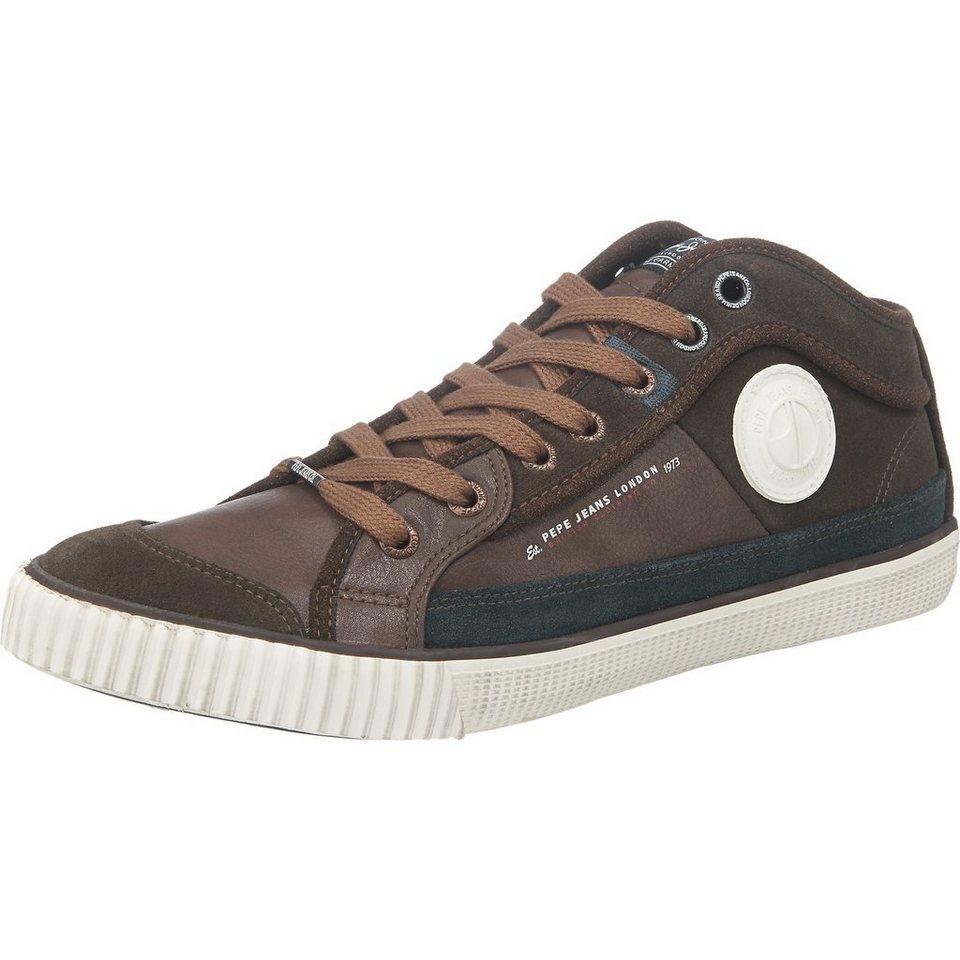 Pepe Jeans Industry Half Sneakers in braun-kombi