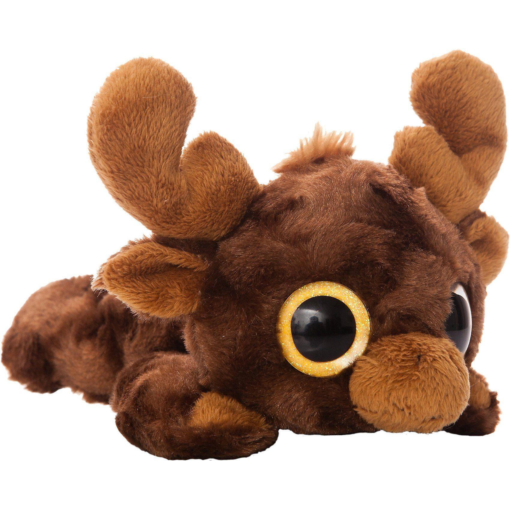 Elch Montee Moose liegend 18cm