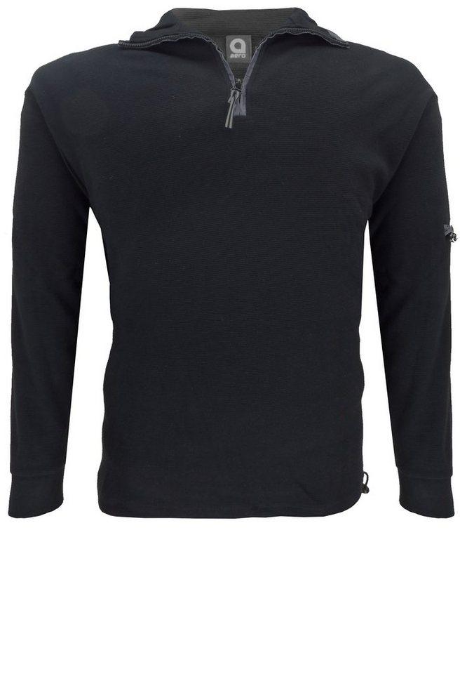 aero Sweater in Schwarz