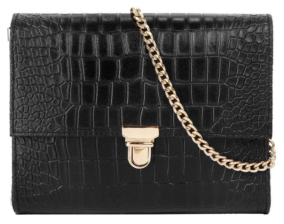 Cluty Leder Damen Abendtasche / Clutch in schwarz