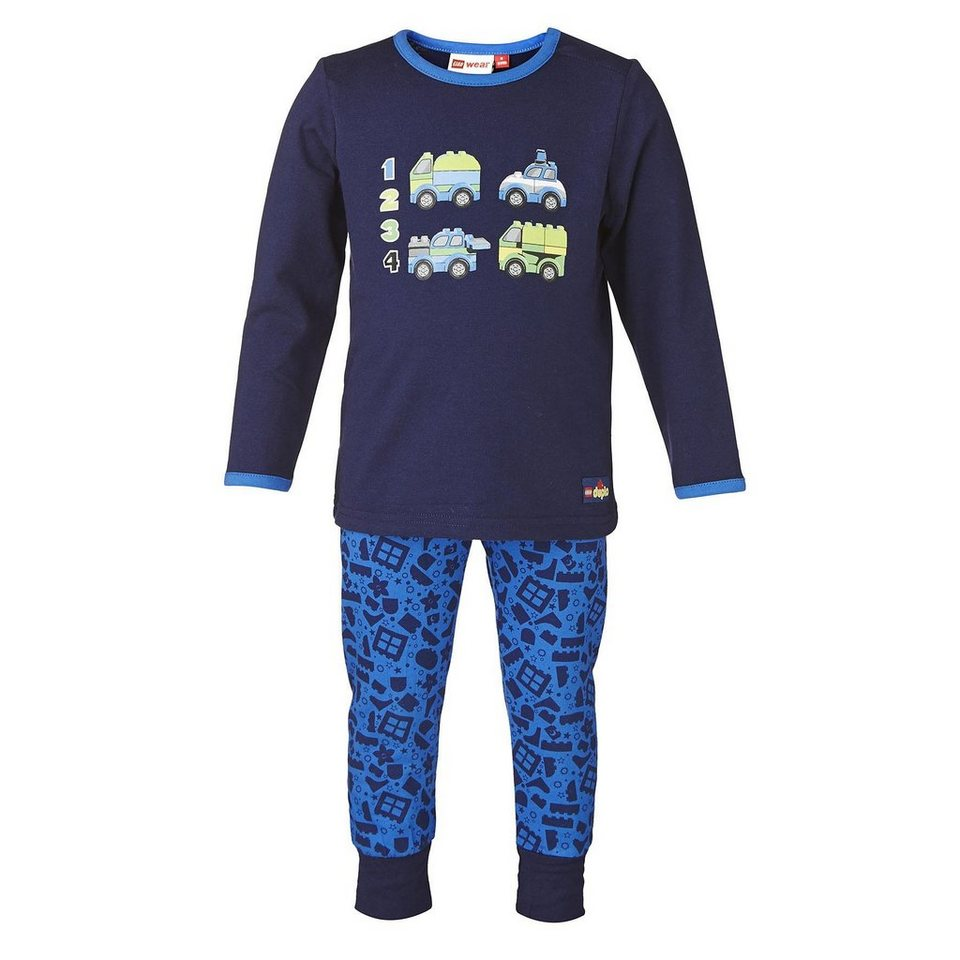 "LEGO Wear Duplo NIGHTWEAR Schlafanzug ""Cars"" Nachtwäsche Pyjama in dunkelblau"