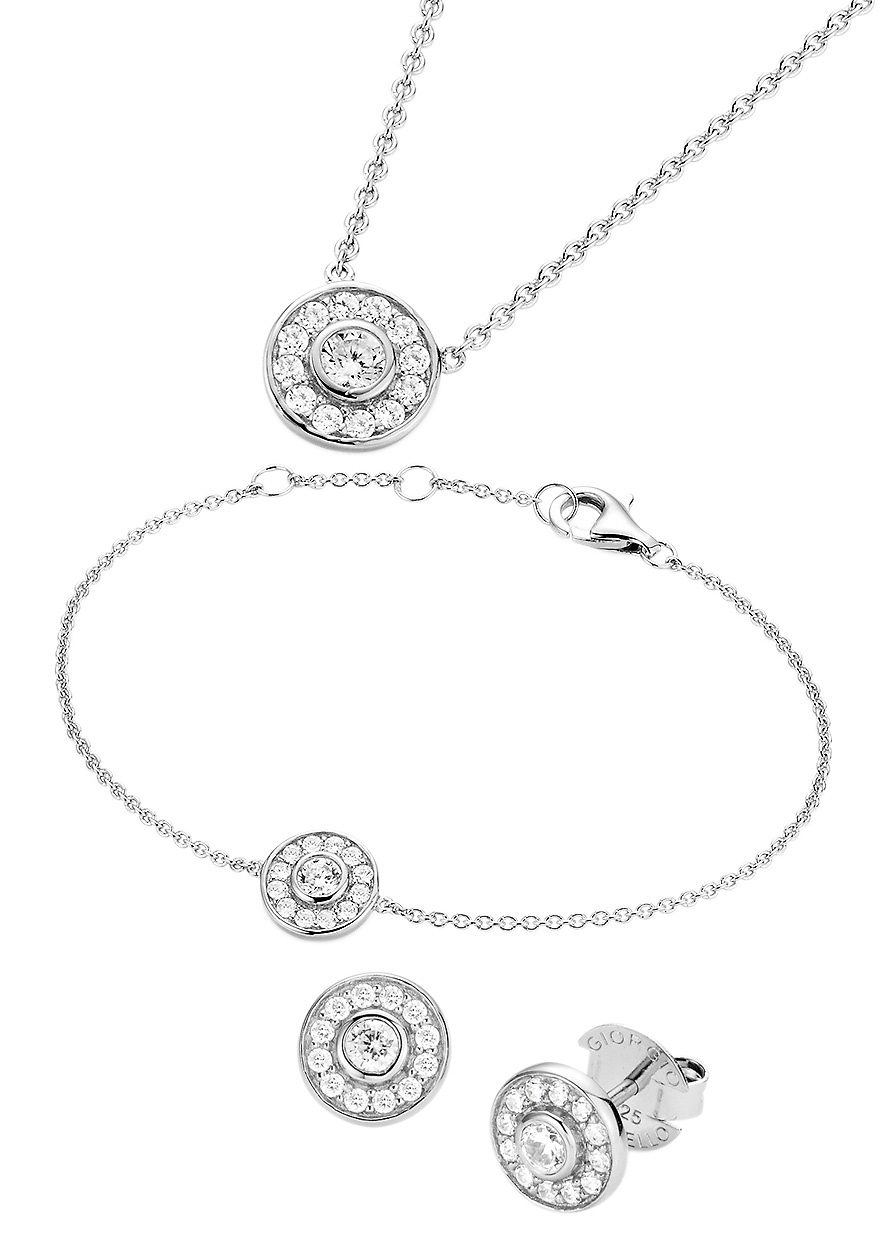 Giorgio Martello Milano Schmuckset: Halskette, Armband und Ohrstecker »500950793450« (Set 4tlg.)
