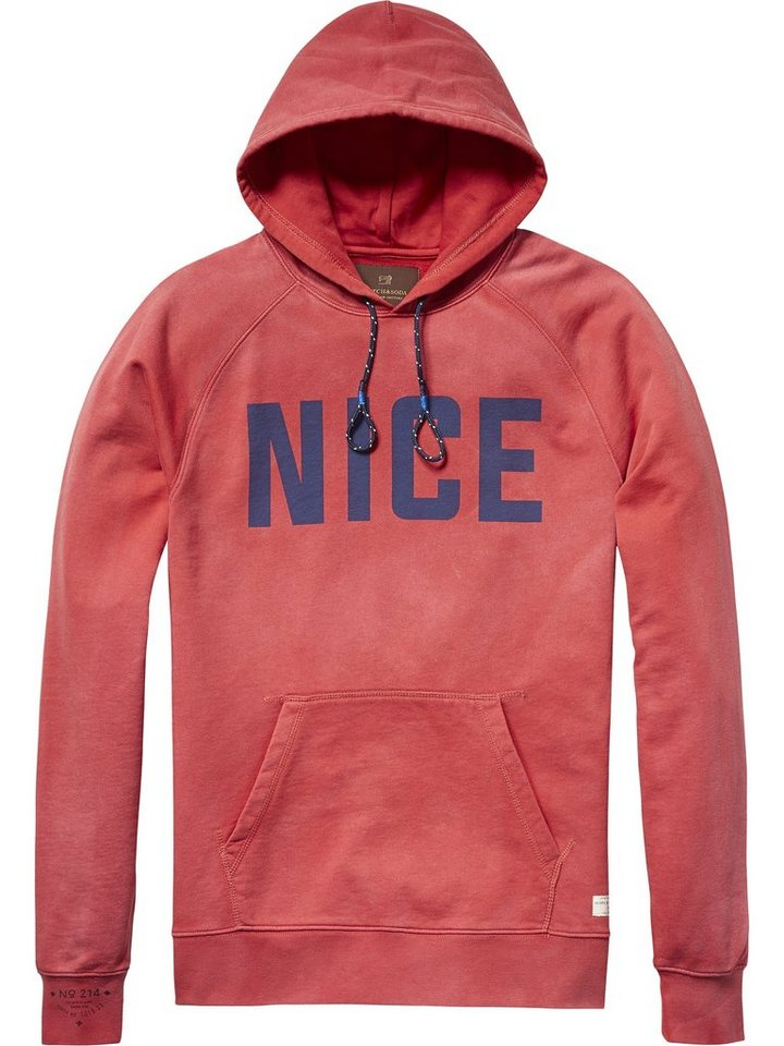 Scotch & Soda Sweatshirt »Classic hooded sweat with chest print.« in rot