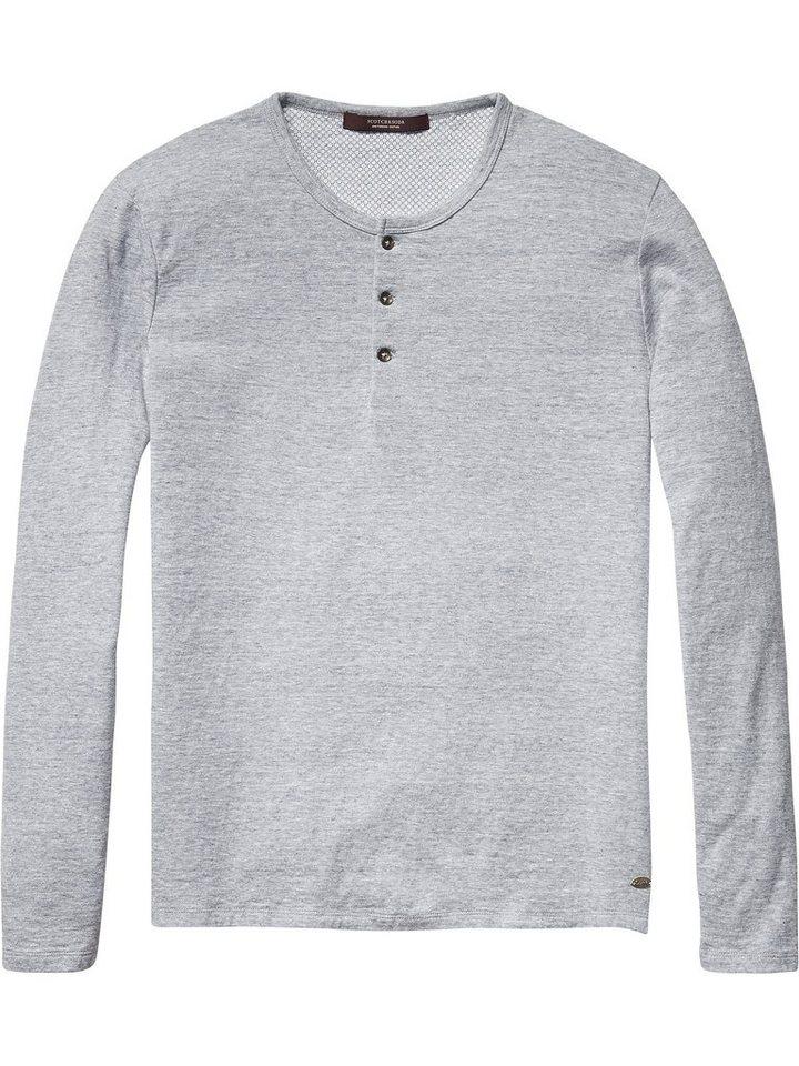 Scotch & Soda Pullover »Langarmshirt grau« in grau