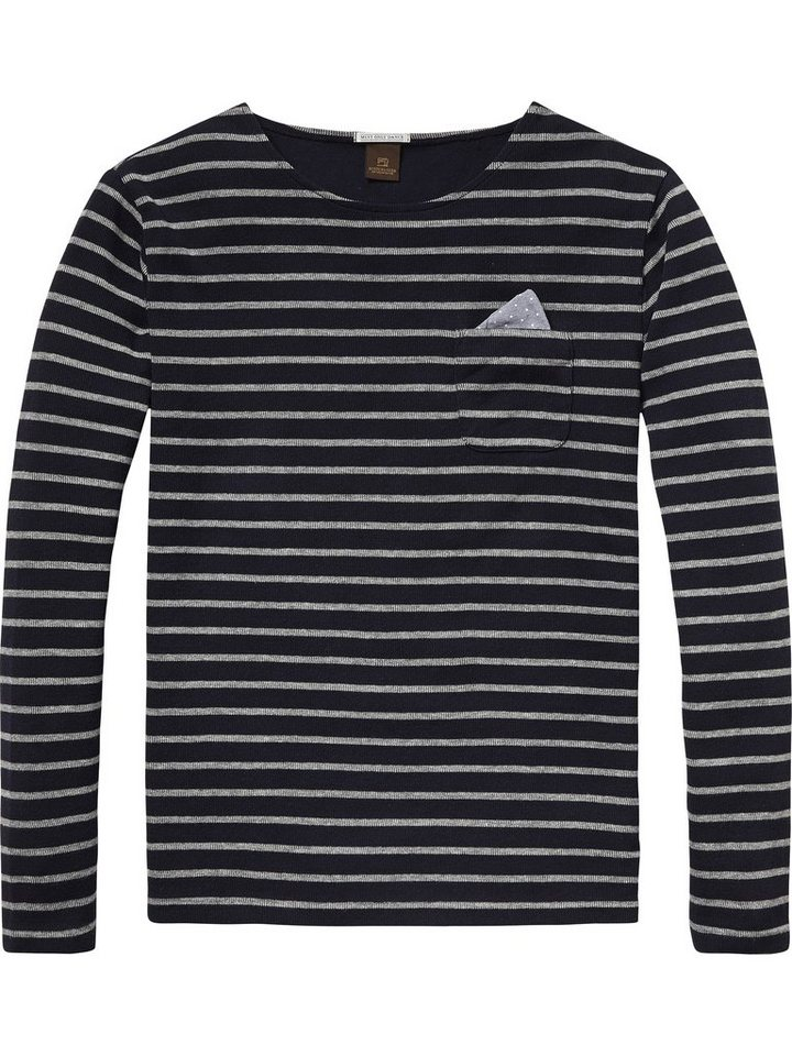 Scotch & Soda Pullover »Crewneck tee in structered quality« in dessin A