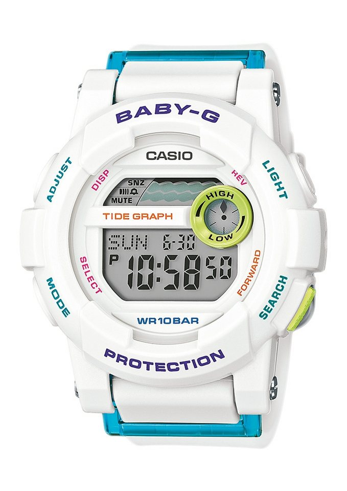 "Casio Baby-G, Chronograph, ""BGD-180FB-7ER"" in weiß"