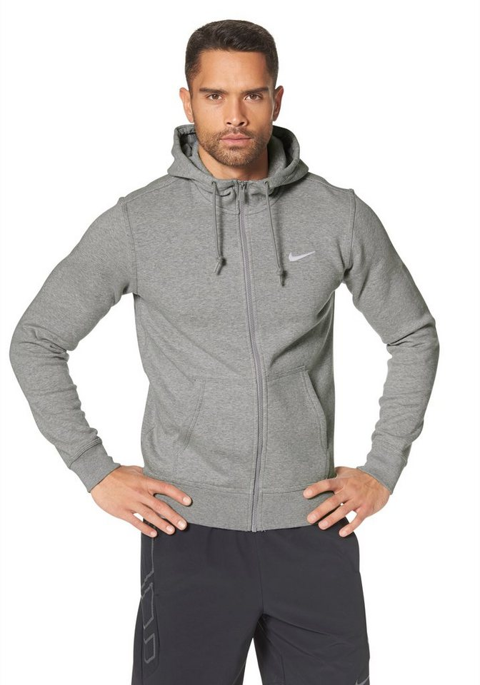 Nike Kapuzensweatjacke in Grau