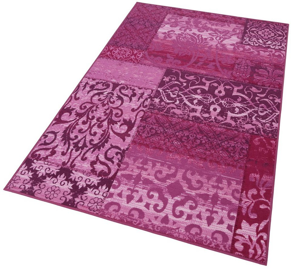 Teppich, Andiamo, »Jarama«, Vintage-Optik, getuftet in lila