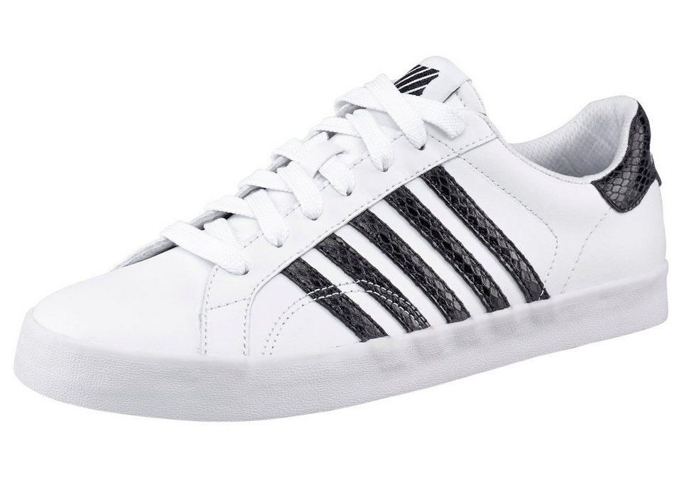 K-Swiss Belmont SO Snake Sneaker in Weiß-Schwarz