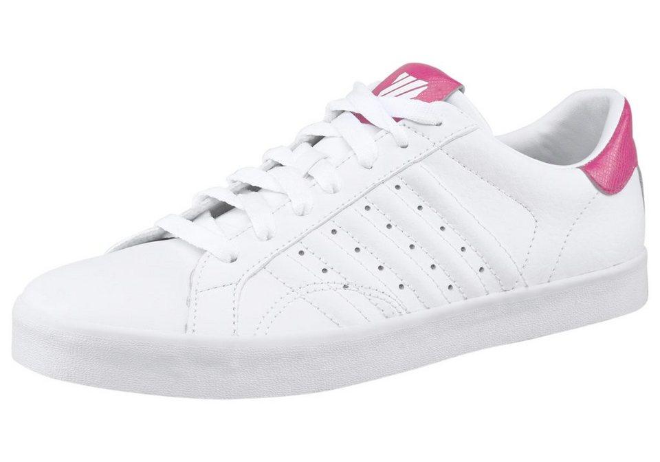 K-Swiss Belmont Snake Sneaker in Weiß-Pink