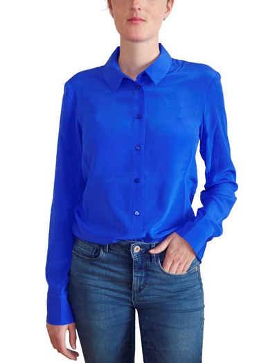 Posh Gear Seidenbluse »Damen Seidenbluse Collettoseta Bluse aus 100% Seide« 100% Seide