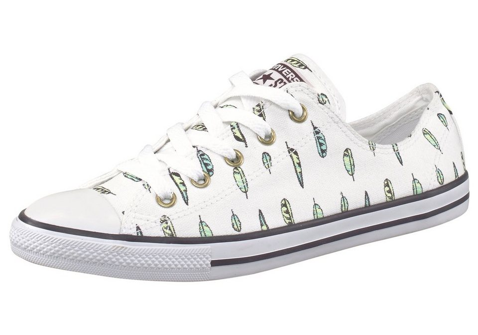 Converse Chuck Taylor All Star Dainty Ox Sneaker in Weiß-grün