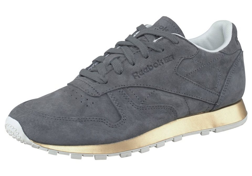 Reebok Classic Leather New Metal Sneaker in Grau-Goldfarben