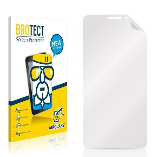 BROTECT Schutzfolie »Panzerglasfolie für Alcatel One Touch Idol X+«, Schutzglas Glasfolie klar