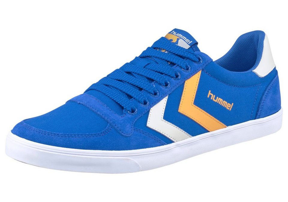 Hummel Slimmer Stadil Duo Lo Sneaker in Blau-Orange