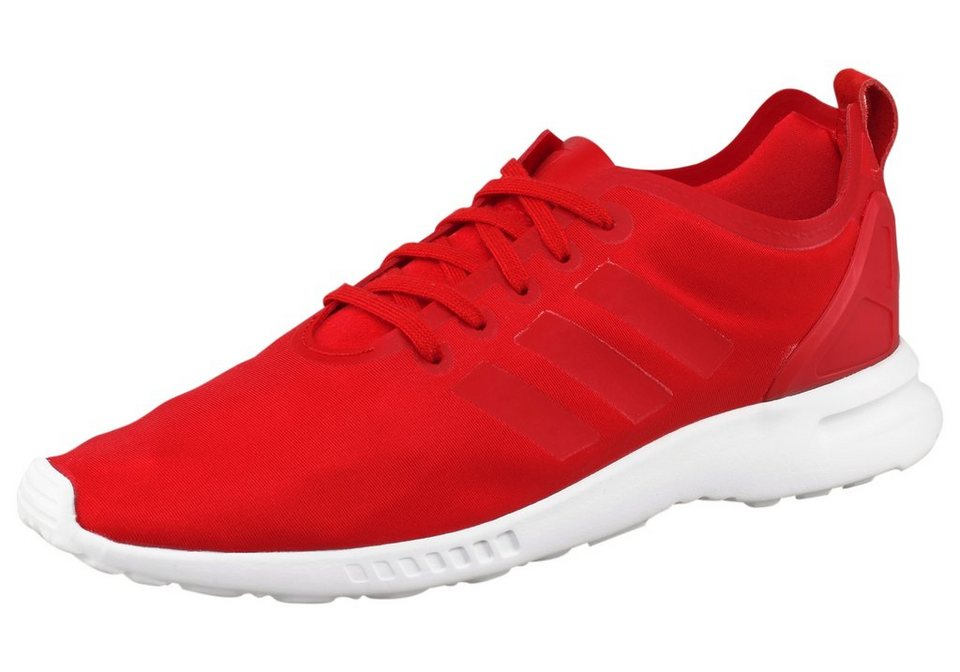 adidas Originals ZX Flux Smooth W Sneaker in Rot