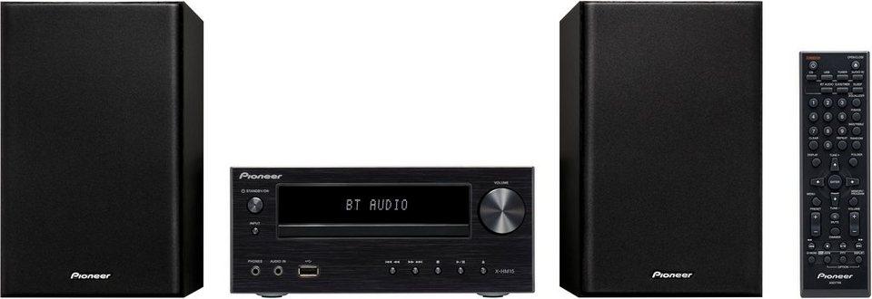 Pioneer X-HM15BT Kompaktanlage, Bluetooth, RDS, 1x USB in schwarz
