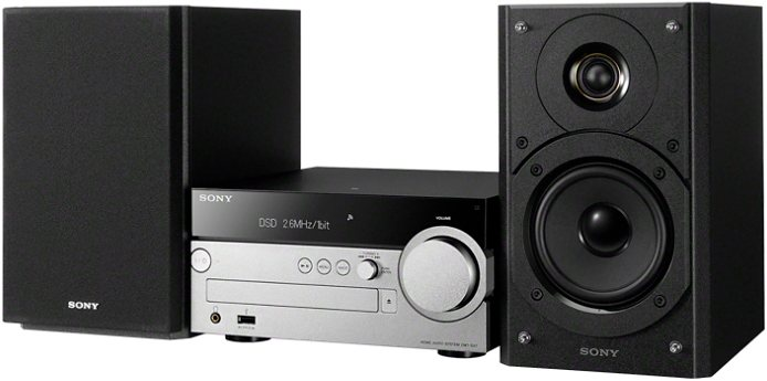 Sony CMT-SX7B Kompaktanlage, Hi-Res, Airplay, Bluetooth, NFC, WLAN, RDS, 2x USB in schwarz/silberfarben